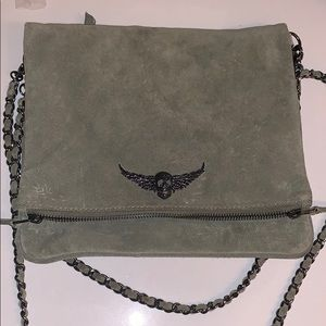 Green suede zadig and Voltaire bag